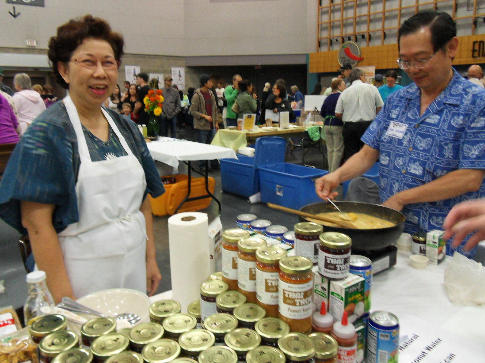 Susie Kasem and her husband Pon of Thai and True curry paste company
