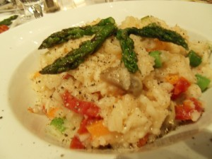 veg risotto at Graffiti in Quebec City