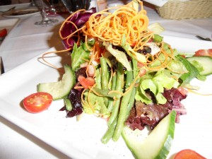 salad at Graffiti in Quebec City