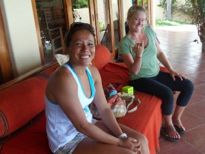 My awesome and beautiful surf instructors, Elsi and Noelani