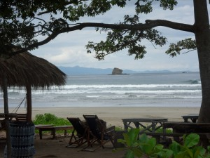 Playa Hermosa had tons of covered areas, seats and hammocks.