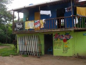 Surfing, yoga and beer drinking are major activities at Playa Maderas