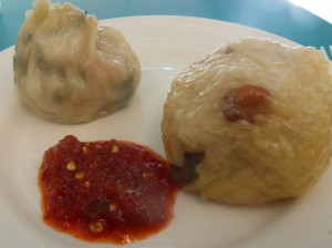 The one on the right was especially good, stuffed with sticky rice, beans and peanuts