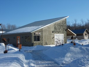 This is the fused glass studio, where I spent a fun part of my day.