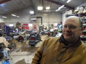 John Zettel, a font of snowmobile stories and wisdom. His snowmobile club is responsible for the upkeep on 31 miles of trails.