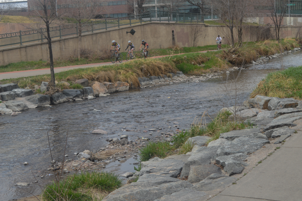 You can walk or bike along the Cherry Creek Trail.