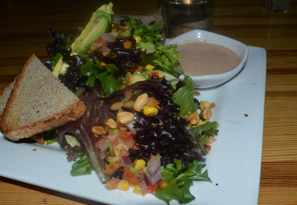 Watercourse is owned by the same folks as City, O City but is a bit more upscale. I got the Three Sisters Salad.
