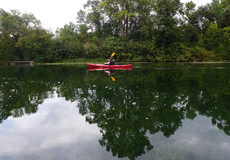 Elkhart Lake kayaking