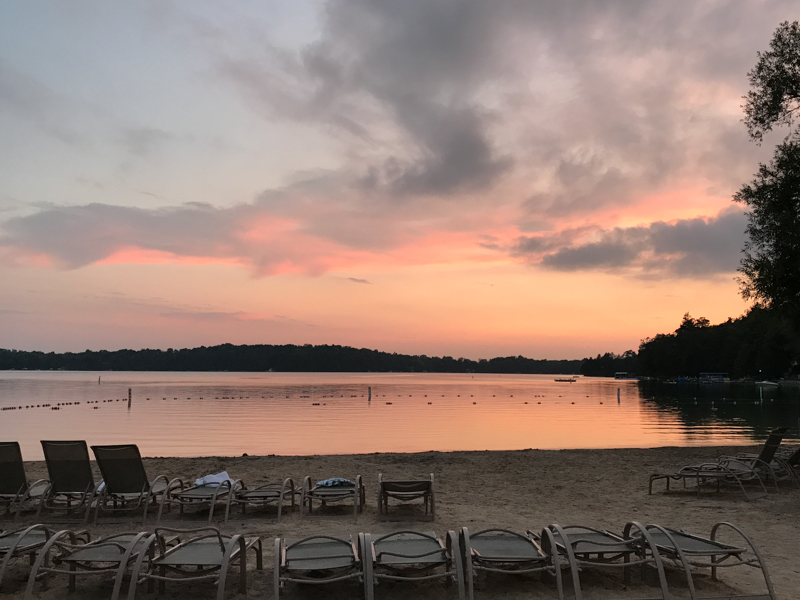 Elkhart Lake sunset