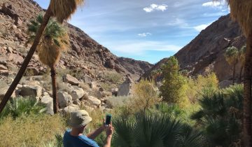 hiking Anza Borrego